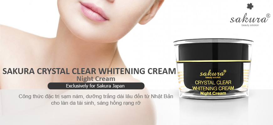 Sakura Crystal Clear Whitening Cream Night Cream