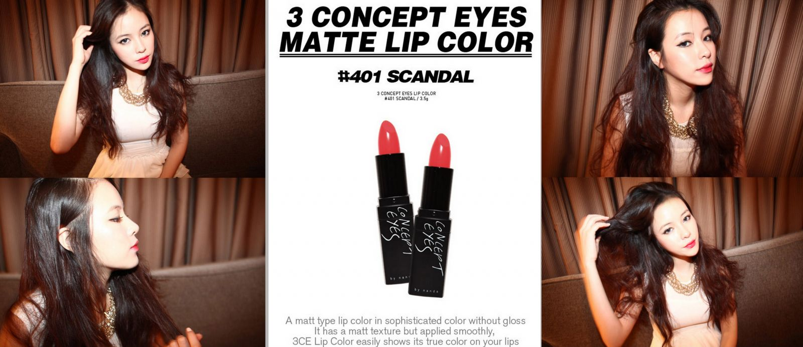 Son 3CE lip color # 401 scandal