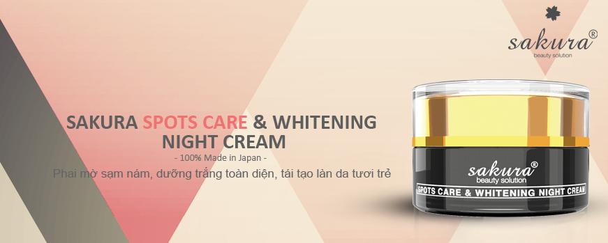 Bộ kem trị nám cao cấp ban đêm Sakura Spots Care & Whitening Night Cream