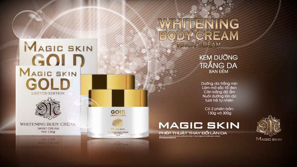 KEM DƯỠNG DA ĐÊM MAGIC SKIN WHITENING BODY CREAM