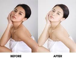 Trước và sau khi sử dụng kem tắm trắng Sakura