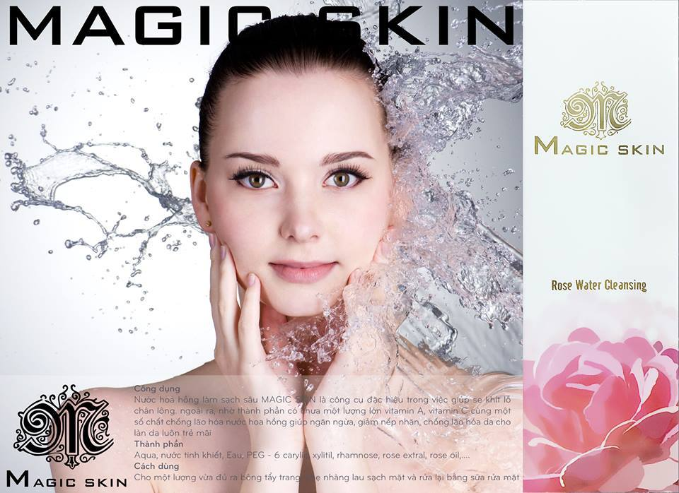 Nước hoa hồng Magic Skin Rose Water Cleansing