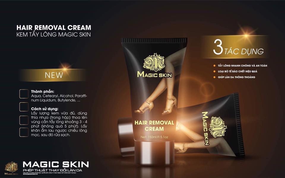 Kem tẩy lông Magic Skin Hair Removal Cream